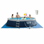 Intex Easy Set 15ft X 42in Above Ground Pool W/ Pump And 5 Lbs Chlorine Tablets