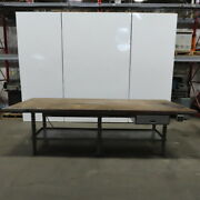 120wx 48dx35h Wood Top 2 Sided Work/production/inspection Bench W/drawers