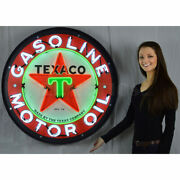 Texaco Gasoline And Motor Oil Shop Neon Sign Gas 36 Metal Can Texas Star In Stock