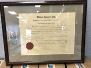 1910 President William Taft Signed Document Psa Dna Authentic Autograph Framed