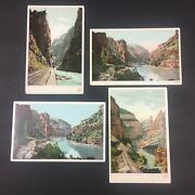 4 Vintage Colorado Canyons Postcards By Detroit Publishing Co.