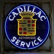 Large Cadillac Neon Shop Man Cave Sign Display 36 Inches Steel Can In Stock New
