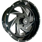 4 - 24x14 Black Milled Wheel Xtreme Force Xf7 6x5.5 -76