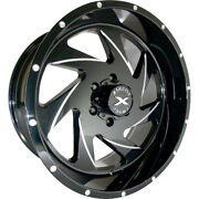 4 - 24x14 Black Milled Wheel Xtreme Force Xf7 6x135 -76