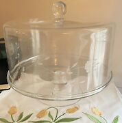 Princess House Heritage Cake Dome And Pedestal Plate 11 X 9 Never Used