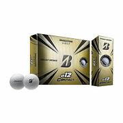 Bridgestone E12 Contact Series Golf Balls With Force Dimples White 12 Pack