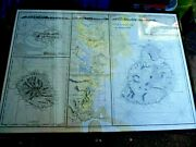Framed Antique Map Maps Isle Of France Mauritus Mountains 1856 By Norie Rare