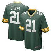 Green Bay Packers Eric Stokes Nike Green 2021 Official Nfl Player Game Jersey