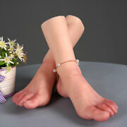 Soft Silicone Girls Right/left Feet Realistic Mannequin Foot Model Shoes Display