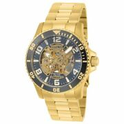 22604 Gent's Grey And Gold Skeleton Dial Automatic Watch