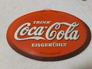 Old German Coca-cola Cardboard Sign Very Very Hard To Find 12..5 Andtimes 8.5