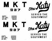 Mkt Katy Box Car Adhesive Sticker For American Flyer S Gauge Scale Trains Parts