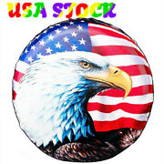 Spare Tire Cover 14 Waterproof Usa Flag Eagle For Jeep Wrangler Camper Truck Suv