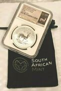 2017 South Africa 1 Rand Ngc Sp69 First Day Of Issue 50th Anniv Krugerrand K826