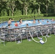 Bestway Coleman 26and039 X 52 Power Steel Oval Above Ground Pool Set With Wifi Pump