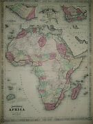Vintage 1866 Atlas Map Africa Old And Authentic Free Sandh