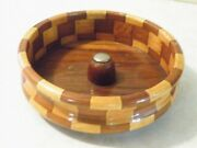 Vintage California Redwood Forest Wood Nut Bowl By Standard Specialty Co