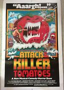 1978 Attack Of The Killer Tomatoes 27 X 41 Vintage Poster - Signed By Writers