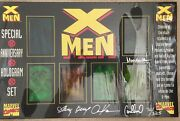 1993 X-men Special Anniversary Hologram Set Signed Limited Edition 72/325 W/ Coa