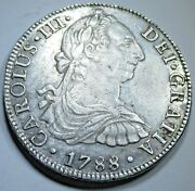 1788 Spanish Mexico Silver 8 Reales Antique Colonial 1700and039s Dollar Pirate Coin