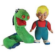 Vtg Beany And Cecil Mattel Talking Pair Cecil Seasick Sea Serpent Doll Pull String
