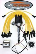 Small Cap Amc Jeep 290,304,343,360,390,401 Hei Distributor + 60k Coil + Wires