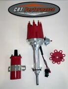Mopar 1959-1972 383 400 Small Cap Hei Distributor Red + 45k Can Coil - Red