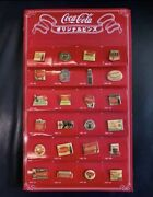 24 Coca-cola Novelty Original Pins With Stand