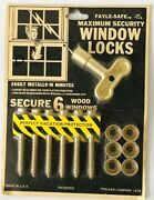 Vintage Fayle Safe Window Maximum Security Locks For Wood Windows New Old Stock