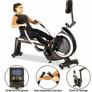 Fitness Reality 4000mr Magnetic Rowing Machine With 15 Workout Programs, Black