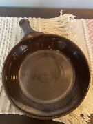 1995 E. J. King Signed Southern Nc Pottery 9 1/2andrdquo Brown Cream Swirled Deep Pan