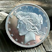 Highland Mint And039peace Dollarand039 .999 Fine Silver 1 Oz Brilliant Uncirculated Round