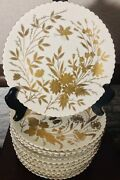 Antique German China , Hand Painted In Gold