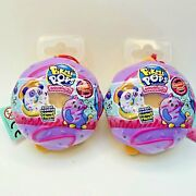2 Pikmi Pops Surprise Doughmis Sweet Scented Donut Plush New Sealed