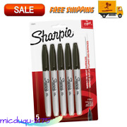 Sharpie Permanent Markers Fine Point Black 15 Ct Fade- N Water-resistant Ink