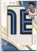 Ja Morant 2019/20 Immaculate Collection Rookie Team Logo 3 Color Patch Sp 10/16