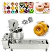 Automatic Donut Maker Machinewide Oil Making Tankfree 3 Sets Mold Commercial