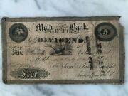 Andpound5 Note Cash Currency Mold Savings Bank Flintshire Wales 1818 Chester Wrexham