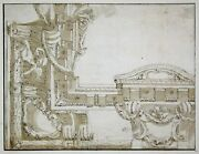 M. A. Tesi Architectural Drawing Zeichnung Ceiling Painting Architecture Design