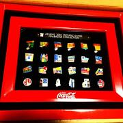 2004 Olympic Coca-cola Collectible Pin Badge Set From Japan Free Shipping