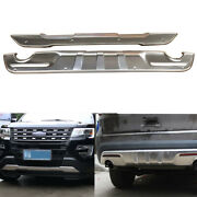Front Rear Bumpers Protector Guard Skid Plate Fits For Ford Explorer 2016-2019