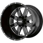 4- 20x12 Black Moto Metal Mo962 8x6.5 -44 Wheels Discoverer S/t Maxx 35 Tires