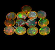 Natural Ethiopian Opal Faceted 11x9 Mm Oval Aaa Welo Fire Opal Loose Gemstone