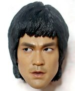 1/6 Hot Toys Bruce Lee Dx04 Enter The Dragon Action Figure Normal Version Head
