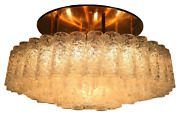 Vintage Doria Flush Mount Glass Tube Chandelier 97 Glass Parts Mcm 1960and039 - 70and039s