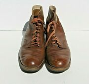 Ww2 Us Army Military Nurse Womanand039s Field Brown Combat Shoes Boots Low Quarter