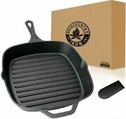 Backcountry Cast Iron 12 Large Square Grill Pan Pre-seasoned For Non-stick