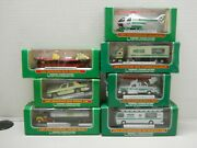 Hess Miniature Truck Boat Copper Lot 2002 To 2008 Nos In Original Boxes Lot Of 7