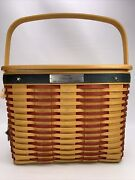 Longaberger 2001 Collector's Club Whistle Stop Basket Lid Liner Protector Tie-on