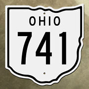 Ohio State Route 741 Highway Marker Road Sign Diecut Map Outline